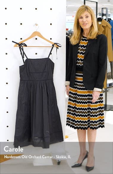 Embroidered Fit & Flare Dress, sales video thumbnail