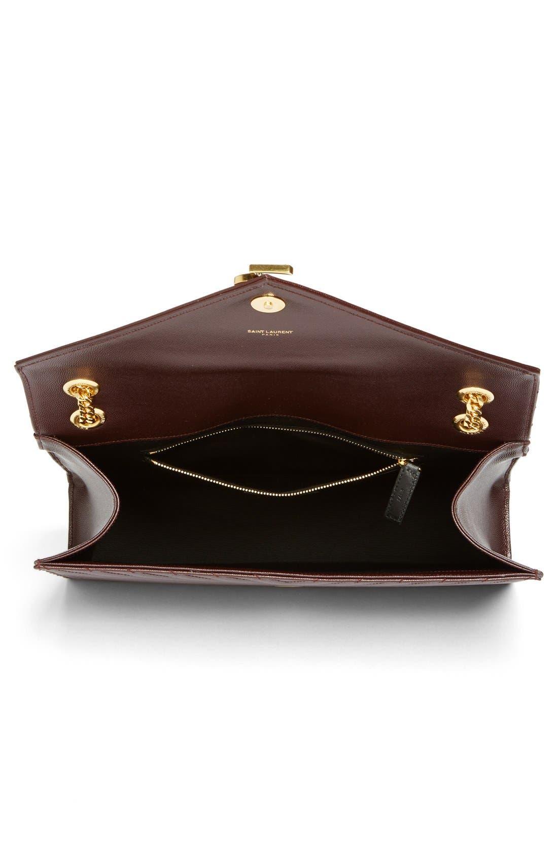 ,                             'Large Monogram' Grained Leather Shoulder Bag,                             Alternate thumbnail 33, color,                             606