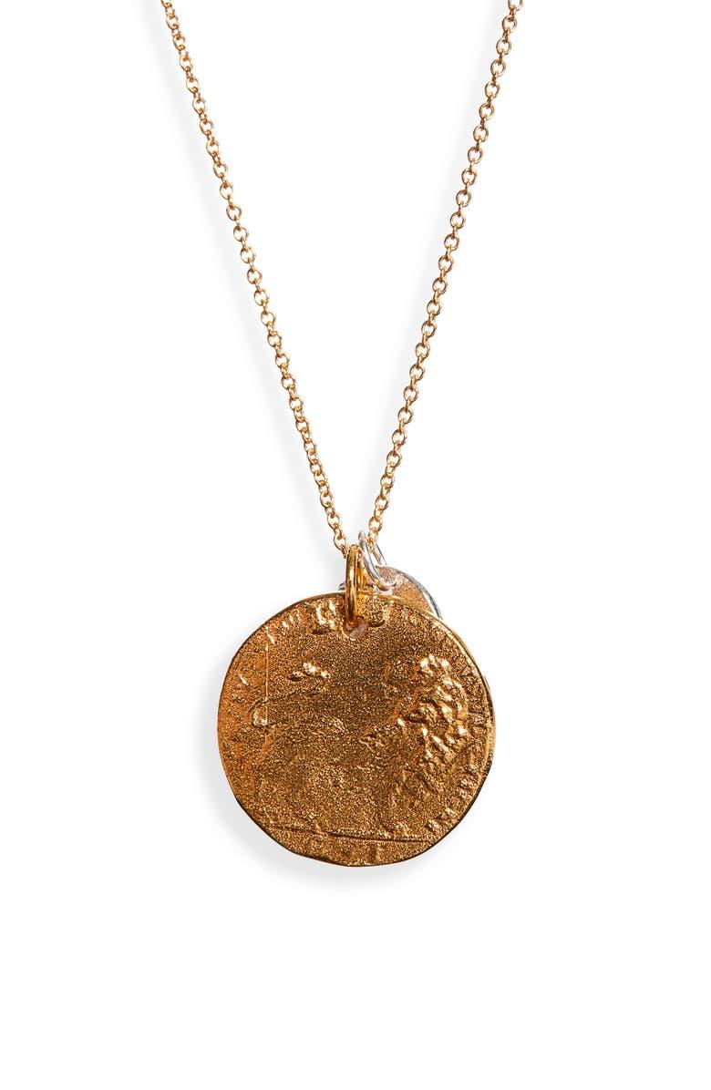 ALIGHIERI The Double Lion Coin Necklace, Main, color, 700