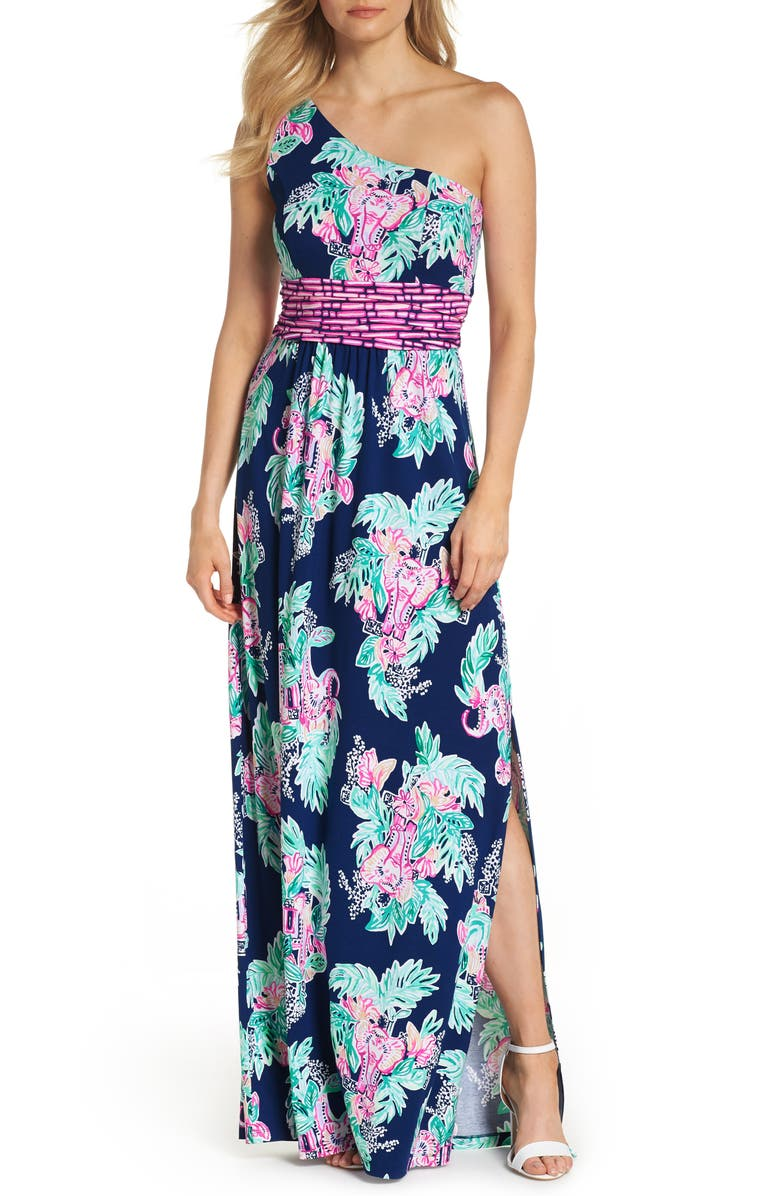 fc41cf8713 Lilly Pulitzer® Malia One-Shoulder Maxi Dress