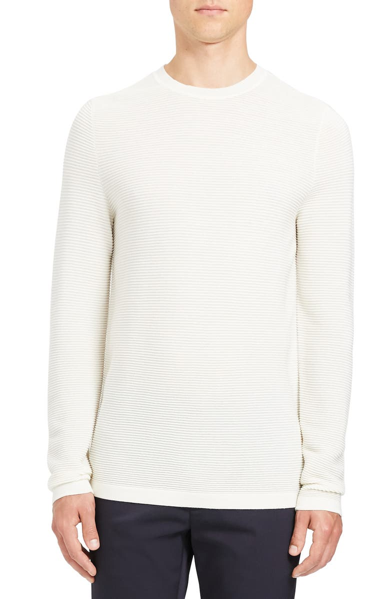 THEORY Grego Slim Fit Crewneck Wool Sweater, Main, color, 106