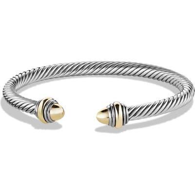 David Yurman Cable Classics Bracelet With Gold, 5mm