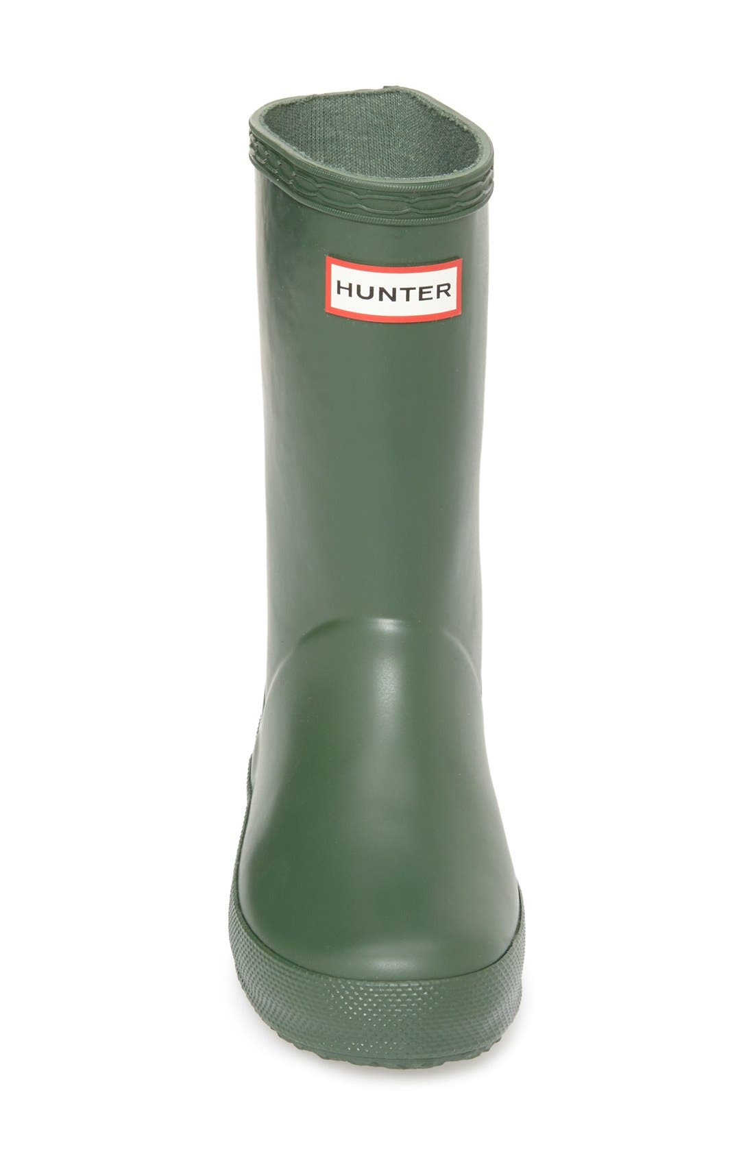 ,                             First Classic Waterproof Rain Boot,                             Alternate thumbnail 3, color,                             HUNTER GREEN