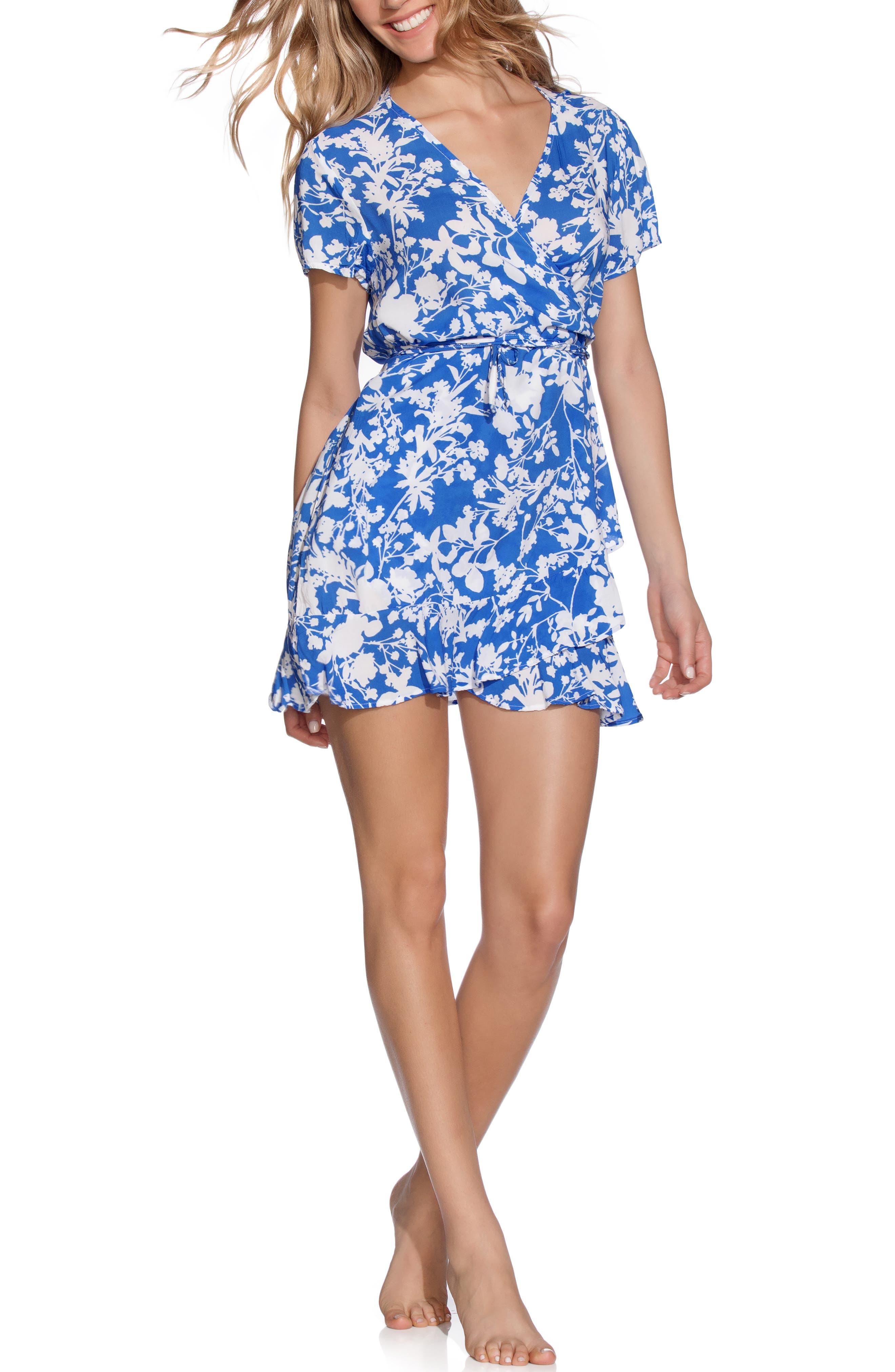 Maaji Port Lucaya Cover-Up Wrap Dress, Blue