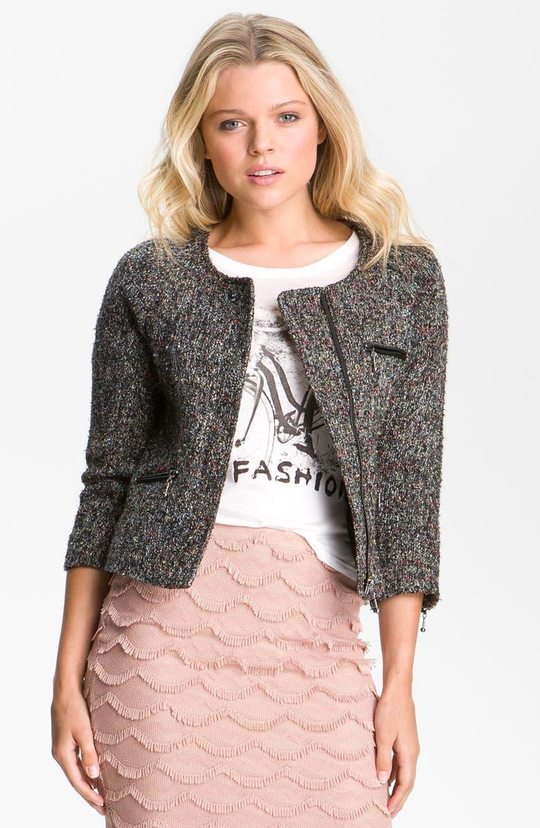 SANCTUARY Tweed Jacket, Main, color, 001