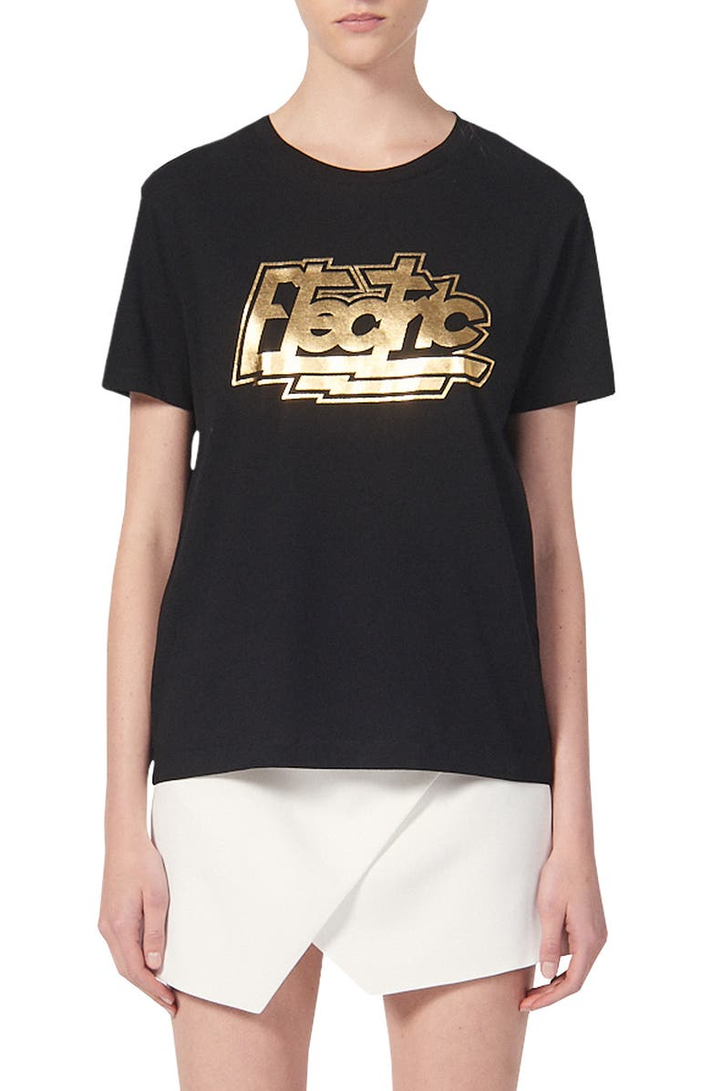 SANDRO Electric Graphic Crewneck T-Shirt, Main, color, 001