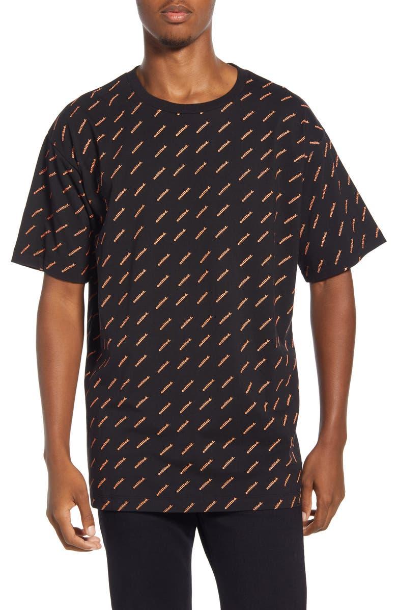 WESC Mason Entitled Graphic T-Shirt, Main, color, ENTILTED AOP