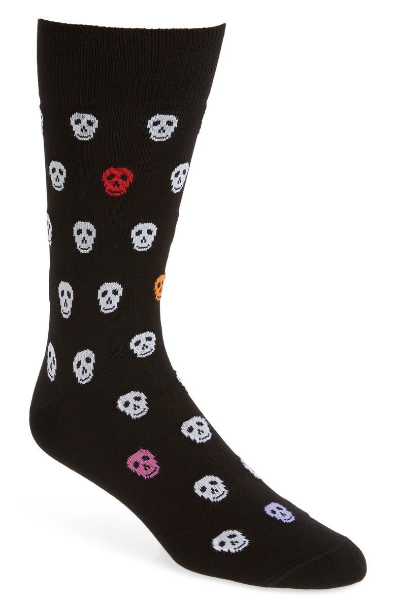PAUL SMITH Skull Socks, Main, color, BLACK
