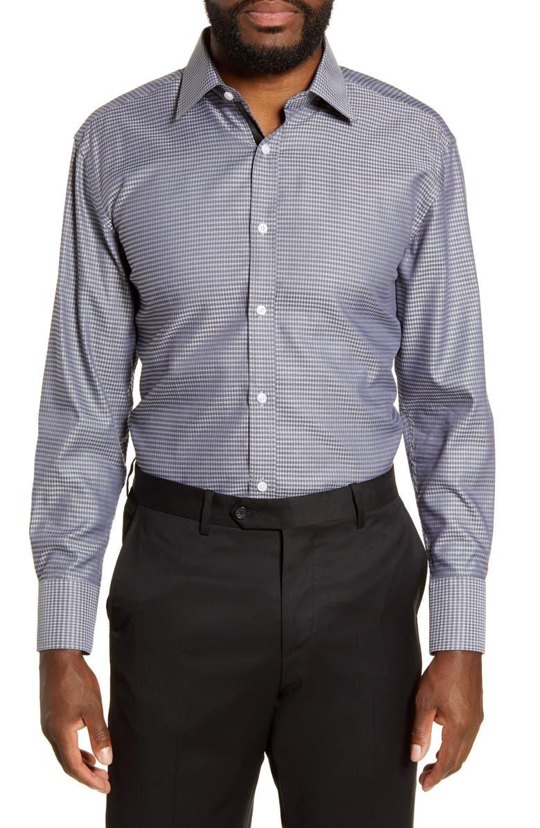 ENGLISH LAUNDRY Regular Fit Dress Shirt, Main, color, GREY