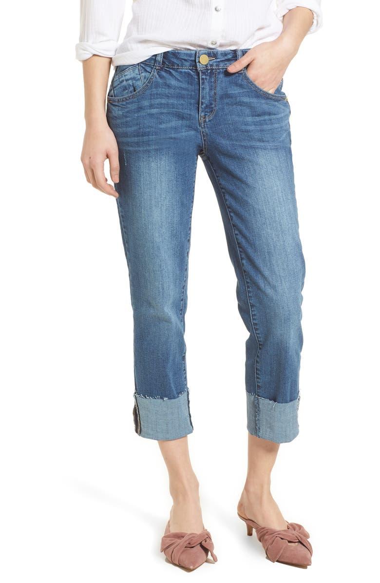 WIT & WISDOM Flex-ellent Cuffed Boyfriend Jeans, Main, color, 420