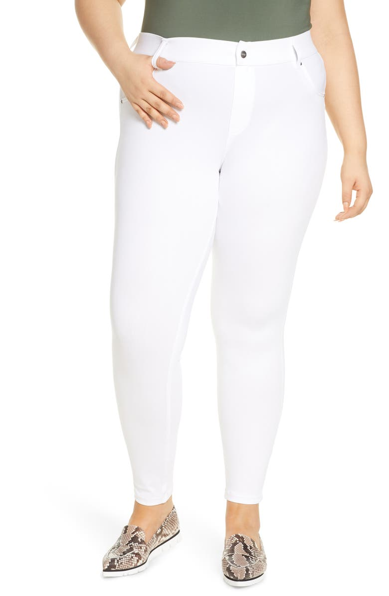 HUE Ultrasoft Denim Leggings, Main, color, WHITE