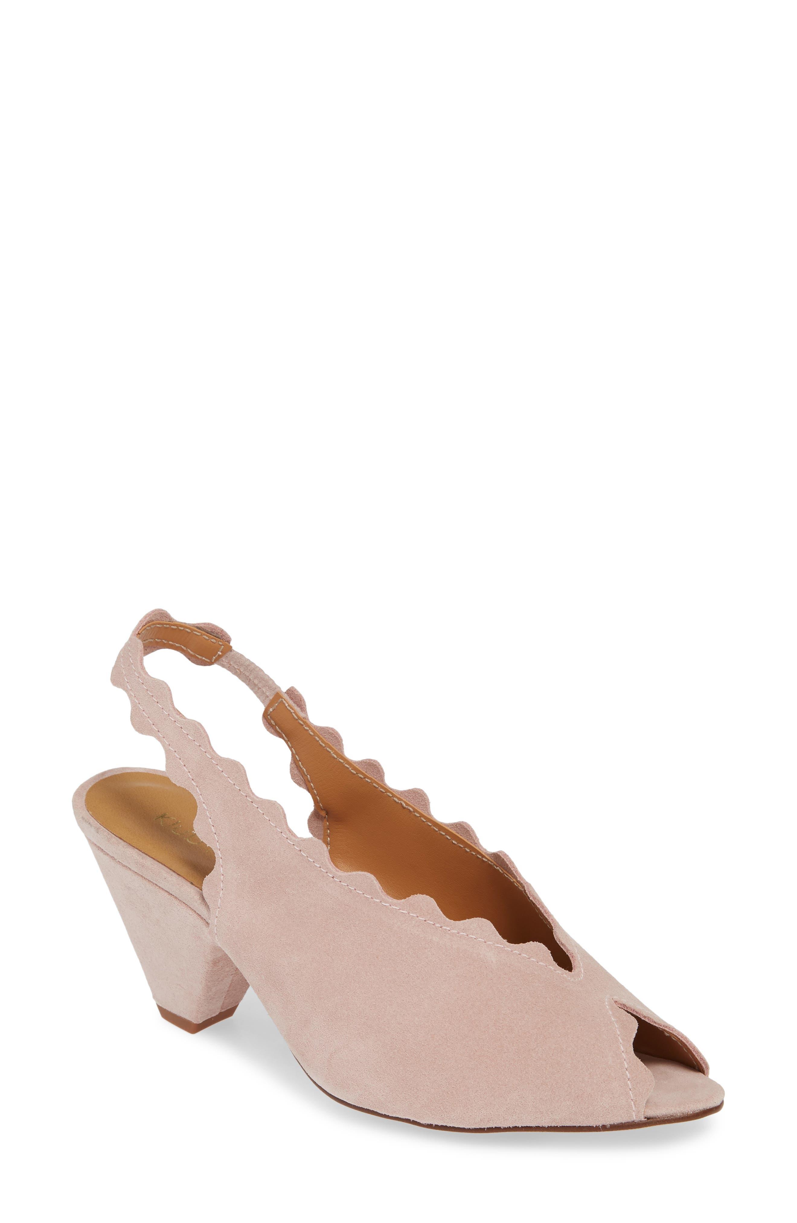 Klub Nico Amelia Scallop Slingback Sandal, Pink