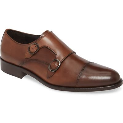 To Boot New York Ronald Double Monk Strap Shoe, Brown