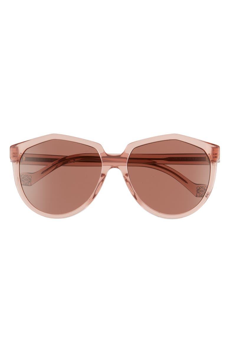 LOEWE 59mm Cat Eye Sunglasses, Main, color, SHINY PINK/ ROSE