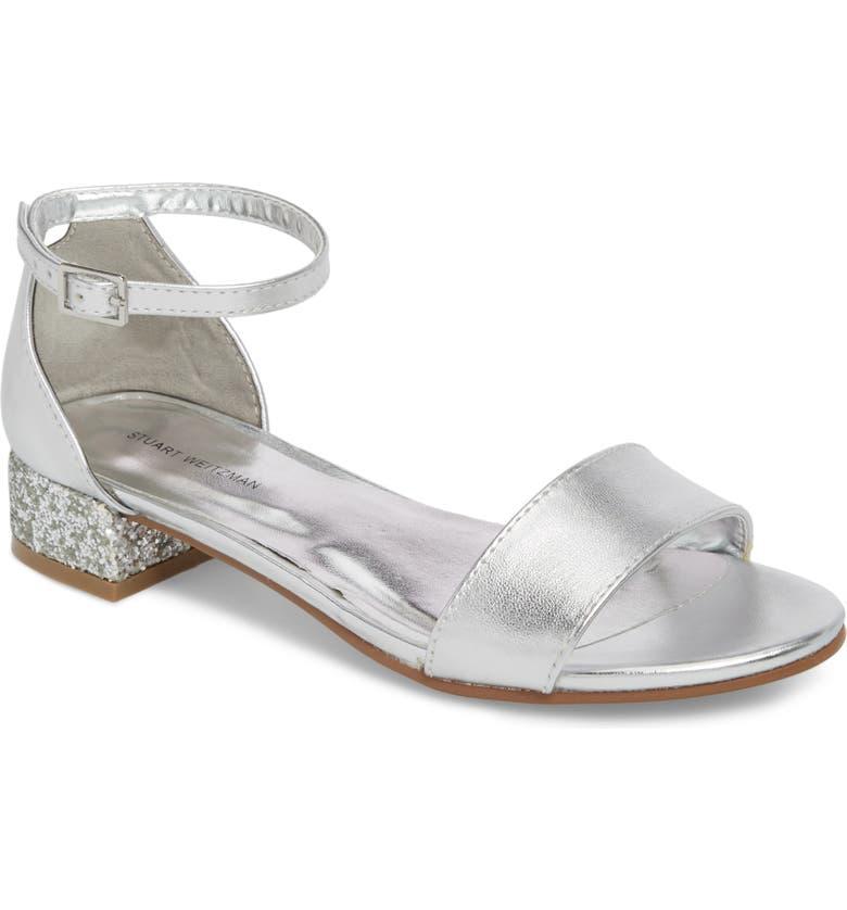 STUART WEITZMAN Penelope Glitter Heel Sandal, Main, color, 044