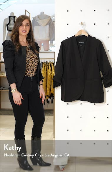 Relaxed Collarless Blazer, sales video thumbnail