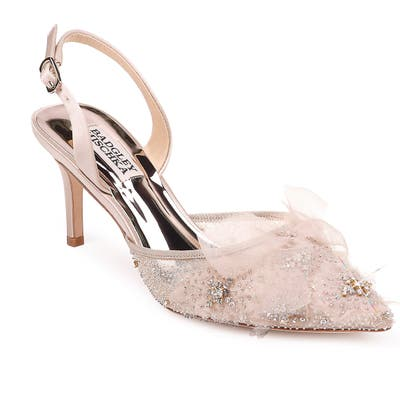 Badgley Mischka Angeline Crystal Embellished Slingback Pump