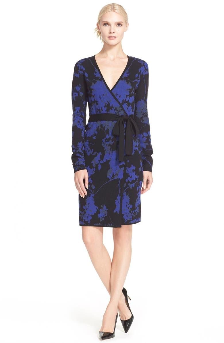 DIANE VON FURSTENBERG 'Leandra' Wrap Dress, Main, color, 408