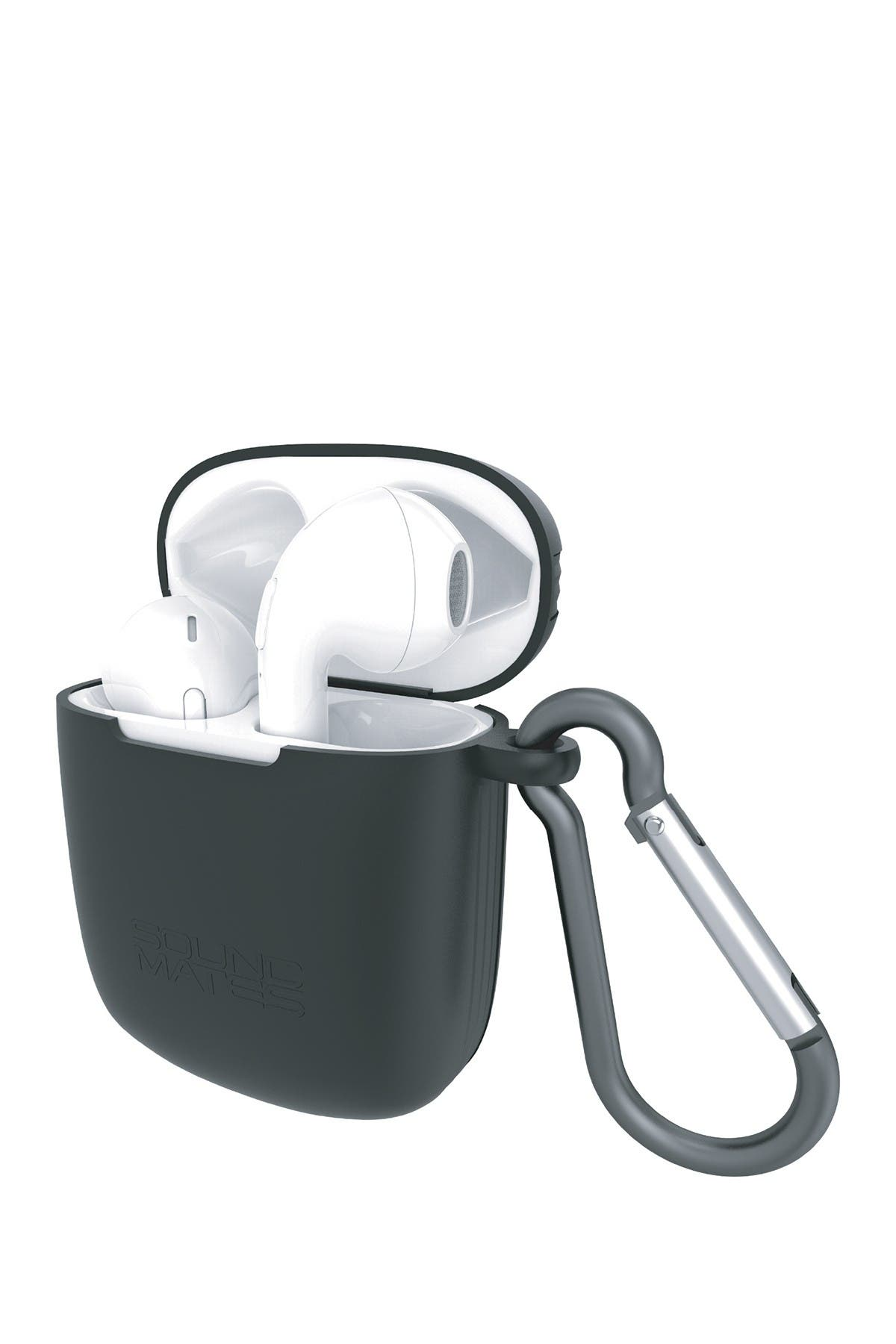 Image of Tzumi Soundmates 5.0 Wireless Earbuds & Recharging Case - White/Black