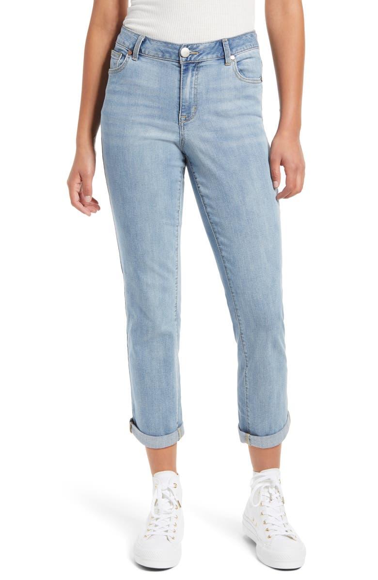 1822 DENIM High Waist Ankle Boyfriend Jeans, Main, color, IDRIS