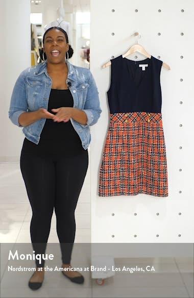 Plaid Mixed Media Dress, sales video thumbnail