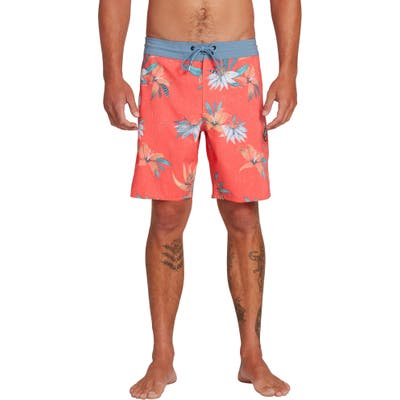 Volcom Verano Stoney Board Shorts, Red