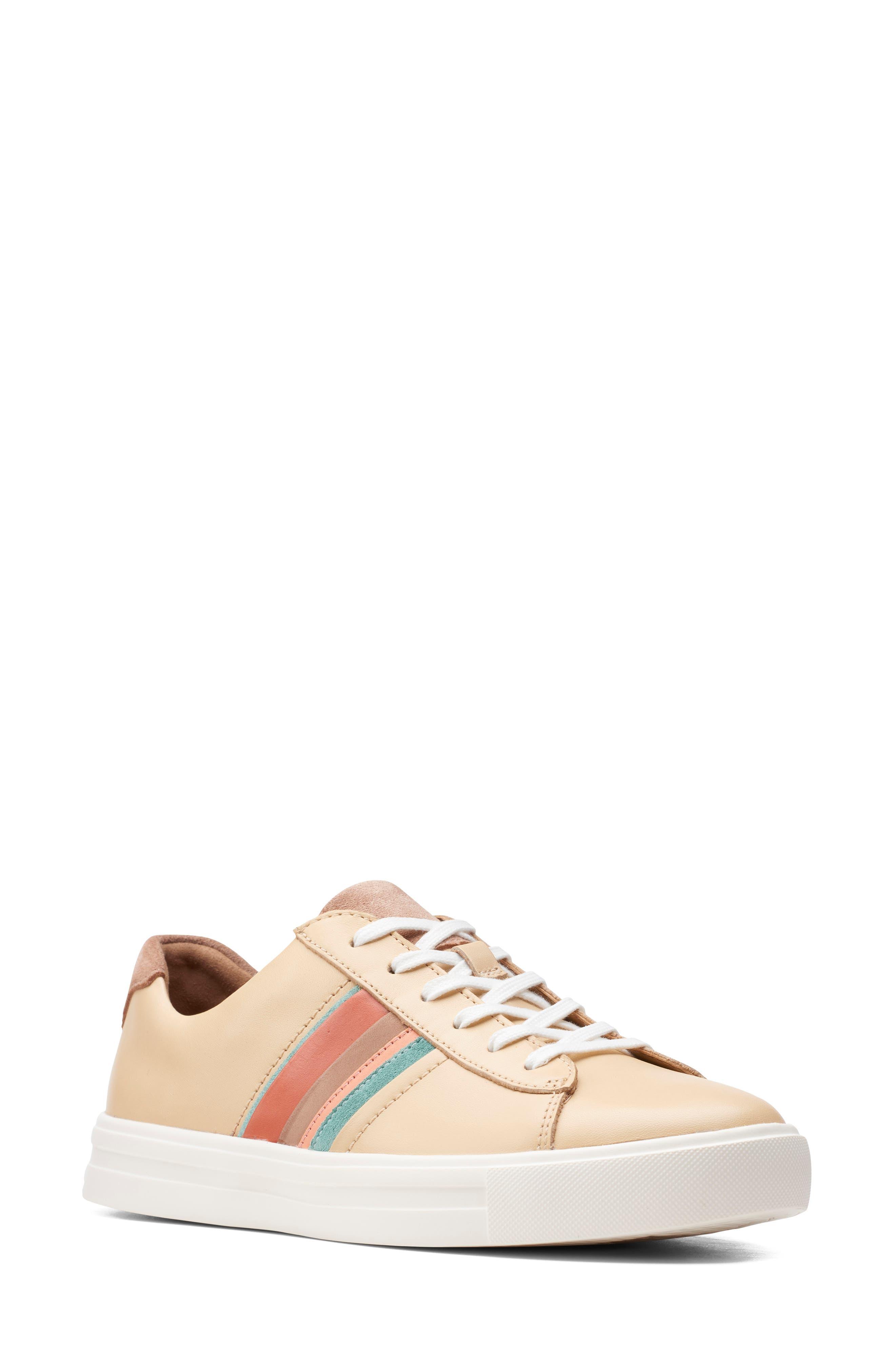 Vintage Shoes in Pictures | Shop Vintage Style Shoes Womens Clarks Un Maui Band Sneaker $90.96 AT vintagedancer.com