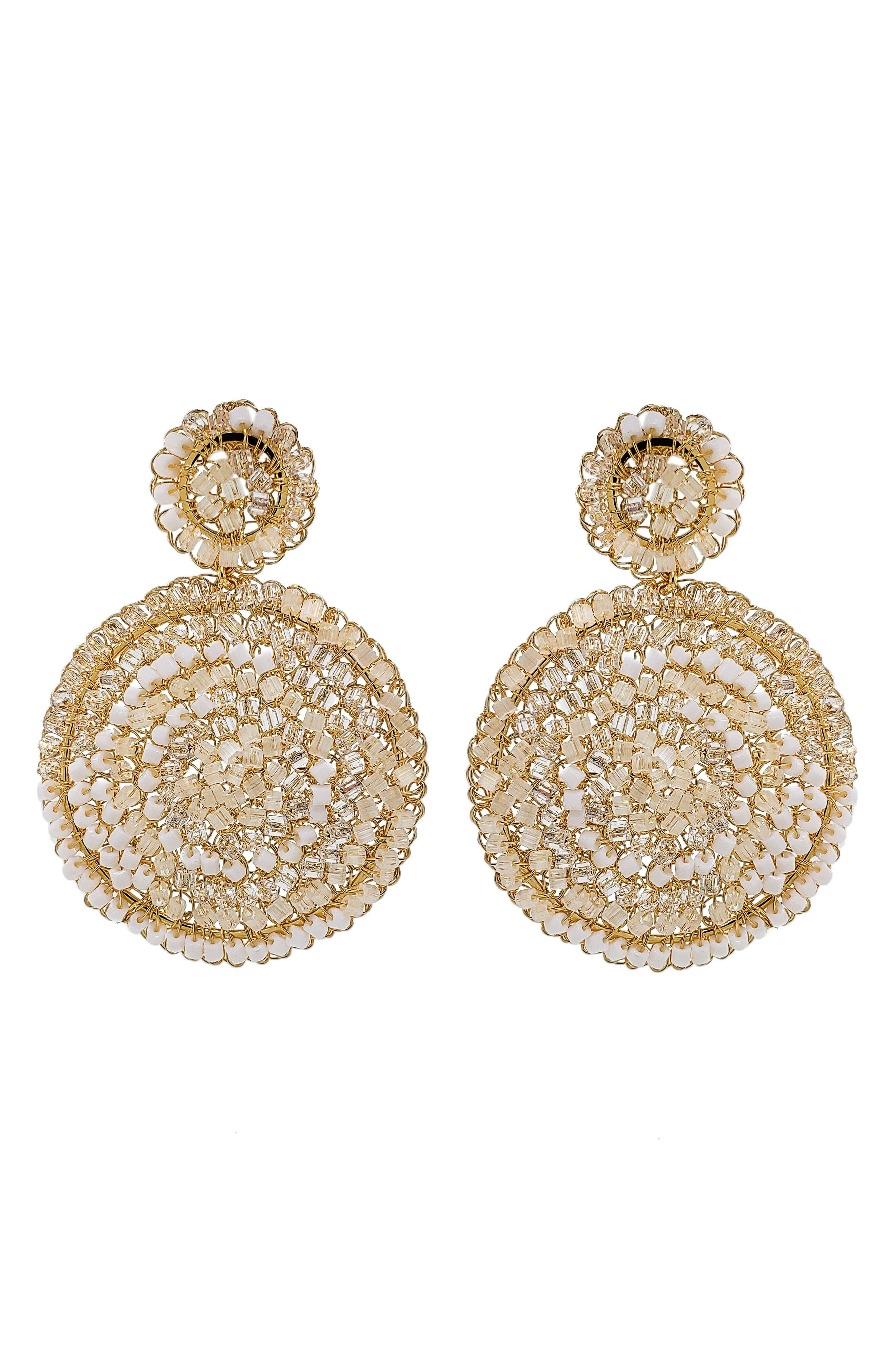 Women's Lavish Mandala Beaded Drop Earrings