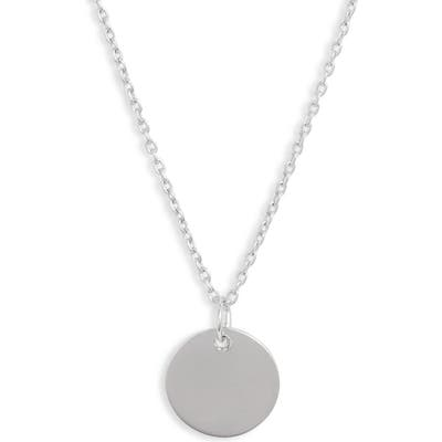 Sterling Forever Disc Pendant Necklace