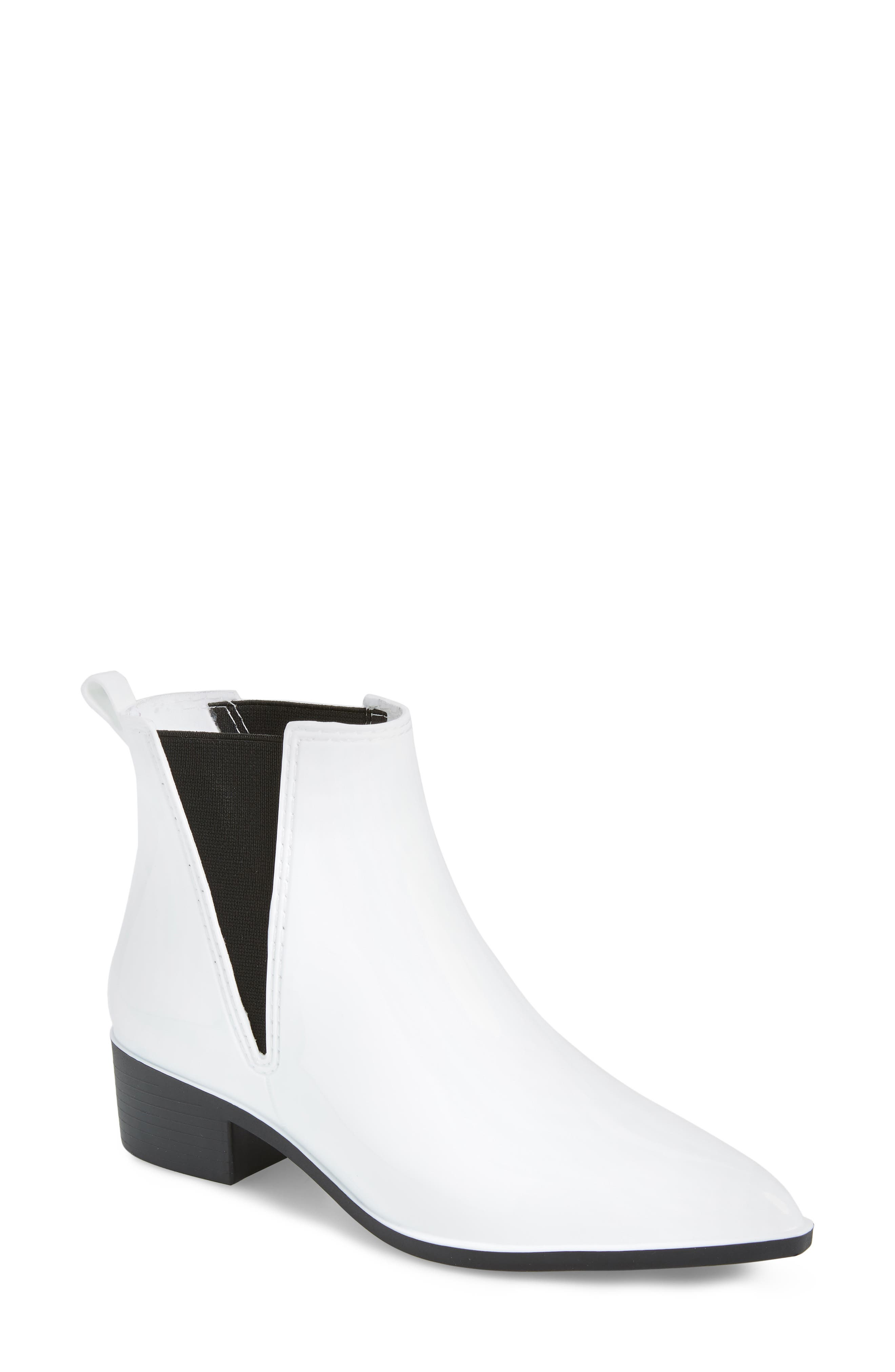 Jeffrey Campbell Mist Chelsea Waterproof Rain Boot, White