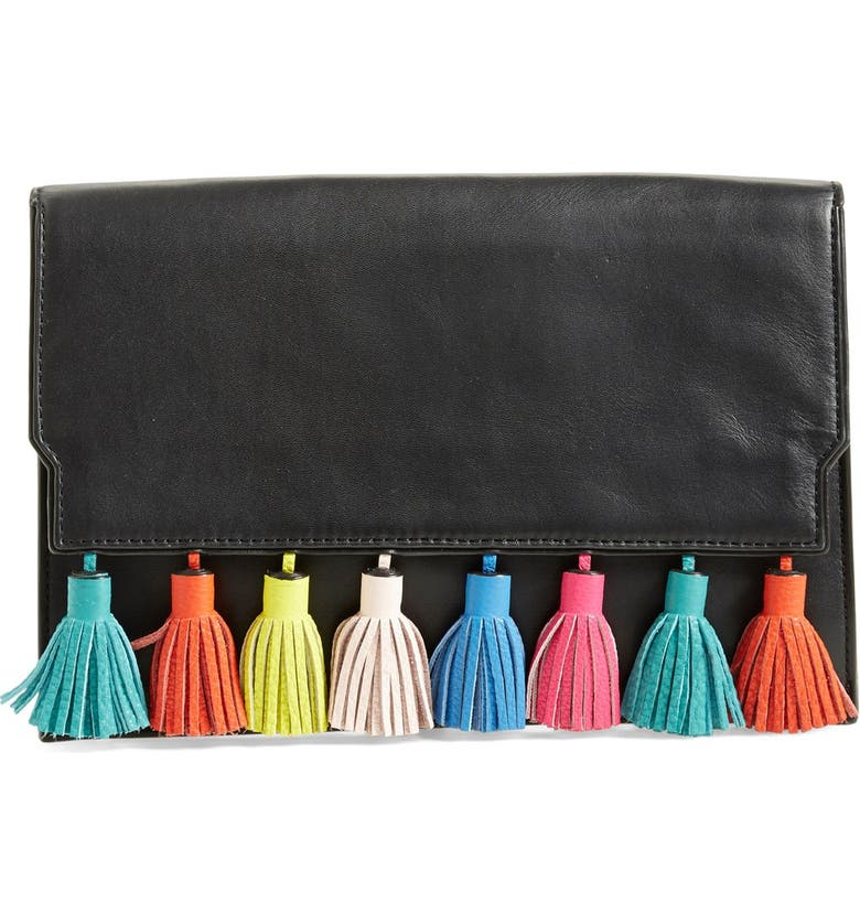 REBECCA MINKOFF 'Sofia' Clutch, Main, color, 001