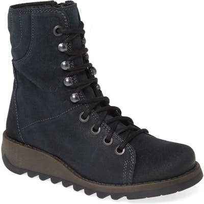 Fly London Same Lace-Up Boot - Blue