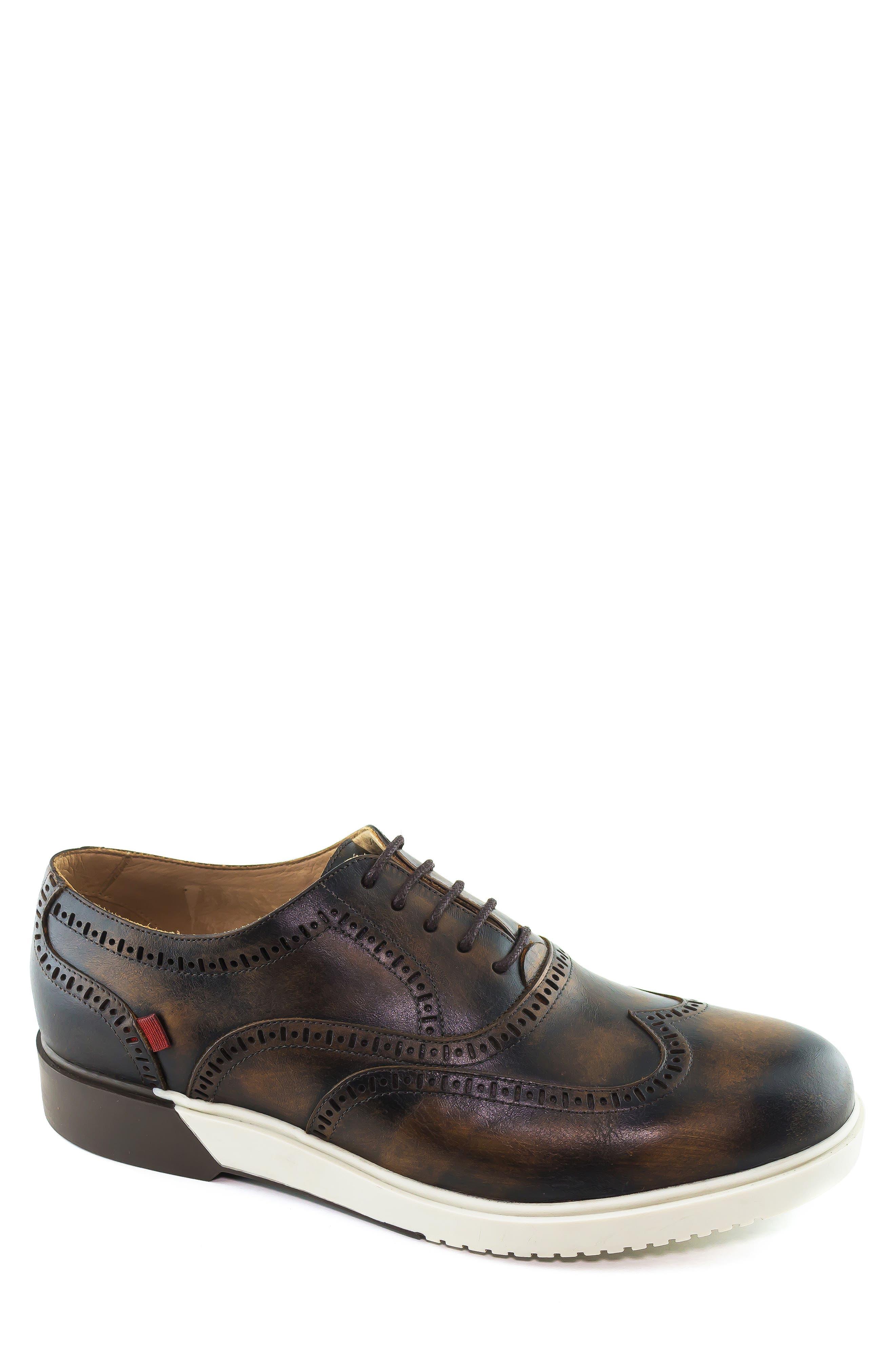 Marc Joseph New York 5Th Ave Wingtip Sneaker, Brown