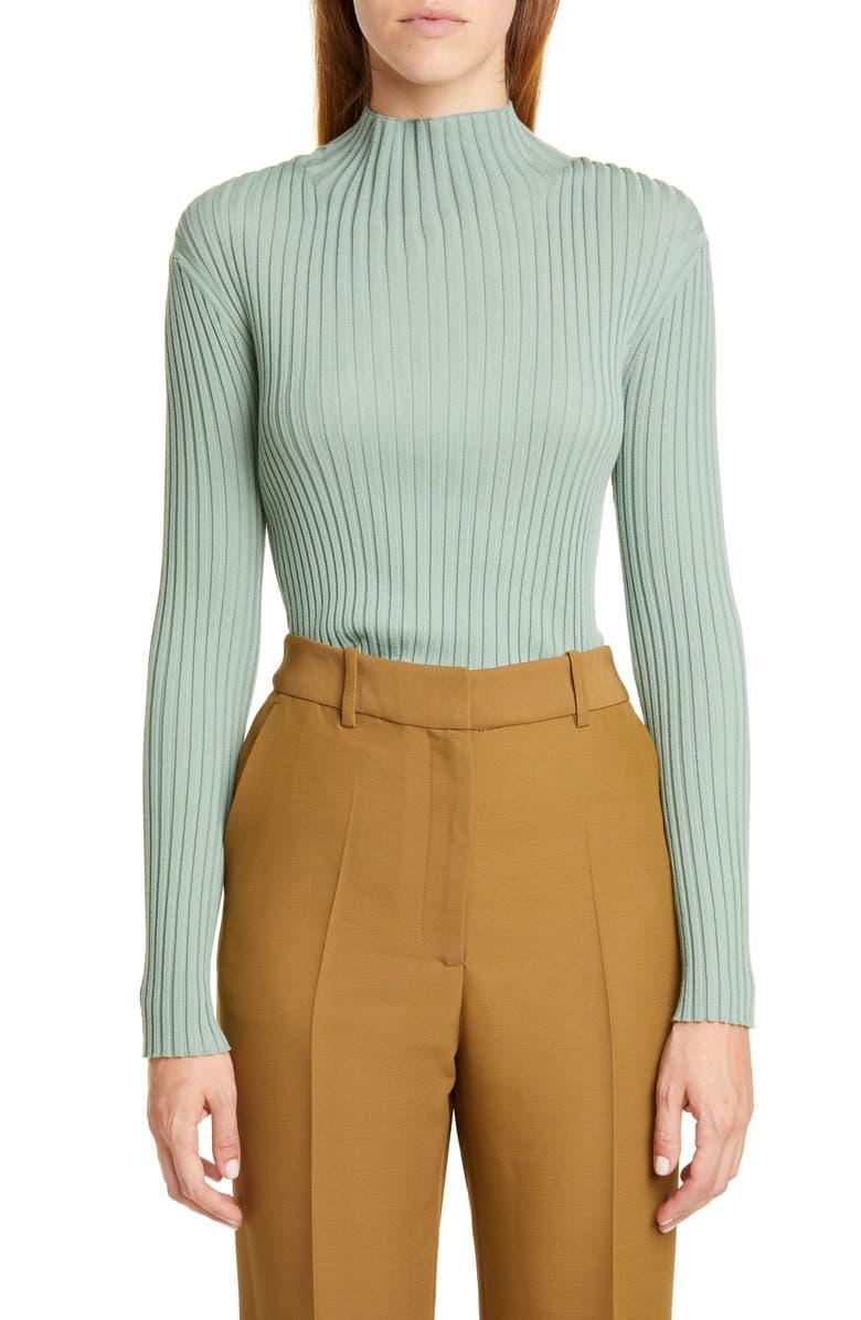 PARTOW Kaia Rib Merino Wool Sweater, Main, color, MINT