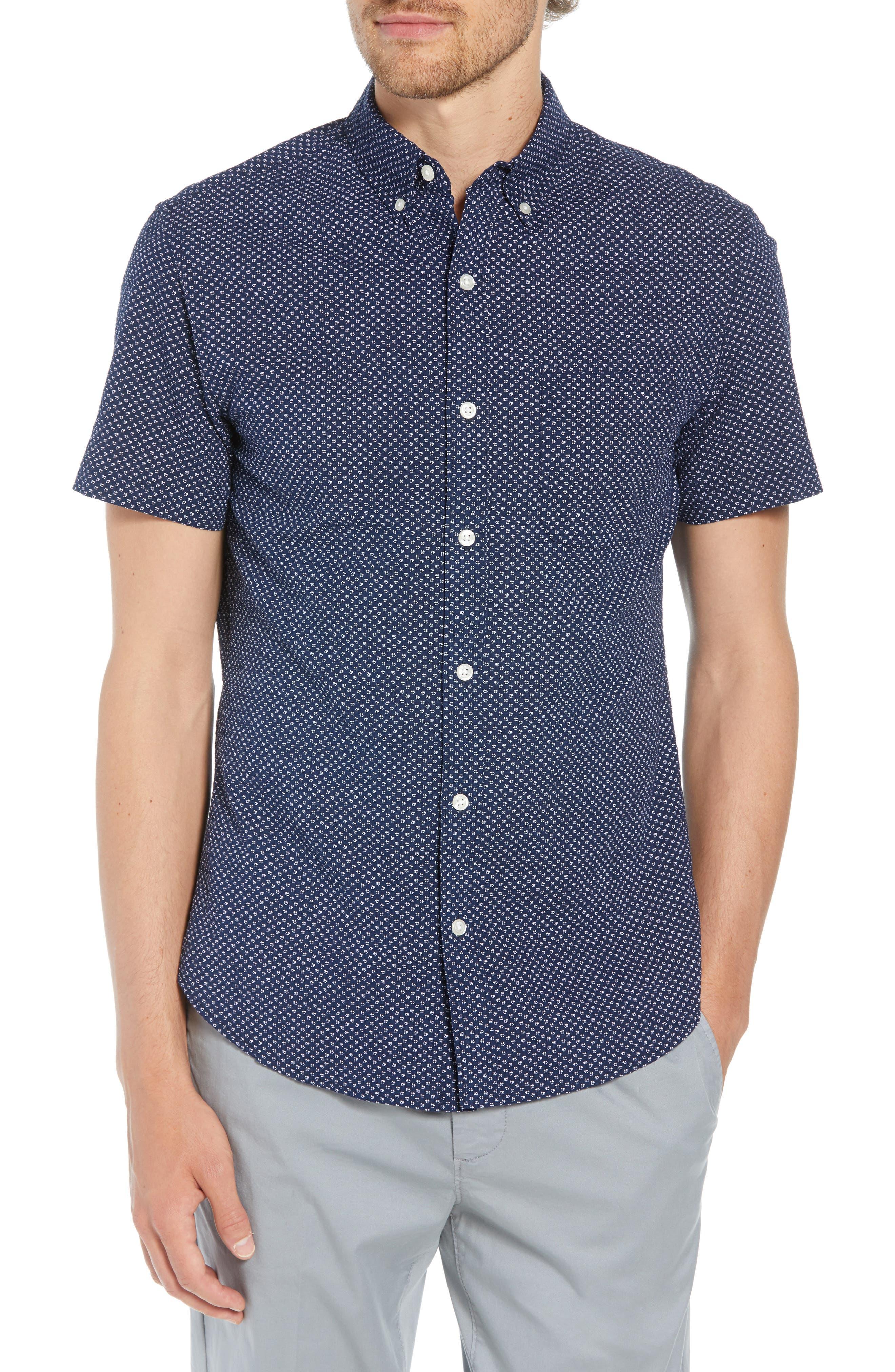 Slim Fit Poppy Print Shirt