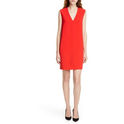 Judith & Charles Edwin V-Neck Shift Dress, Red