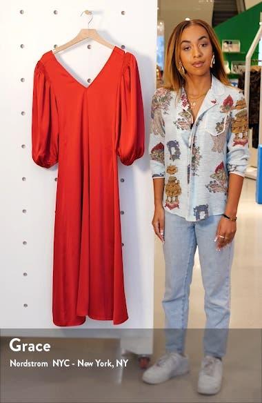 Marlen Satin Midi Dress, sales video thumbnail