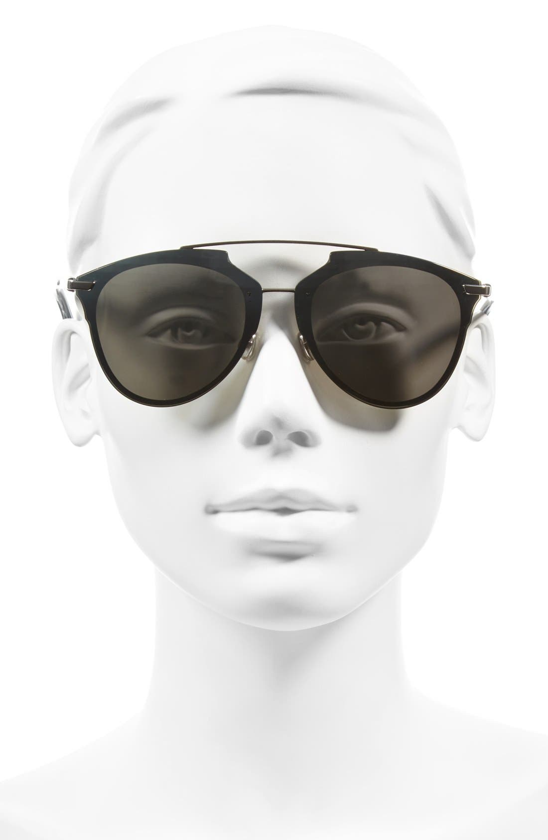 ,                             Reflected Prism 63mm Oversize Mirrored Brow Bar Sunglasses,                             Alternate thumbnail 10, color,                             041