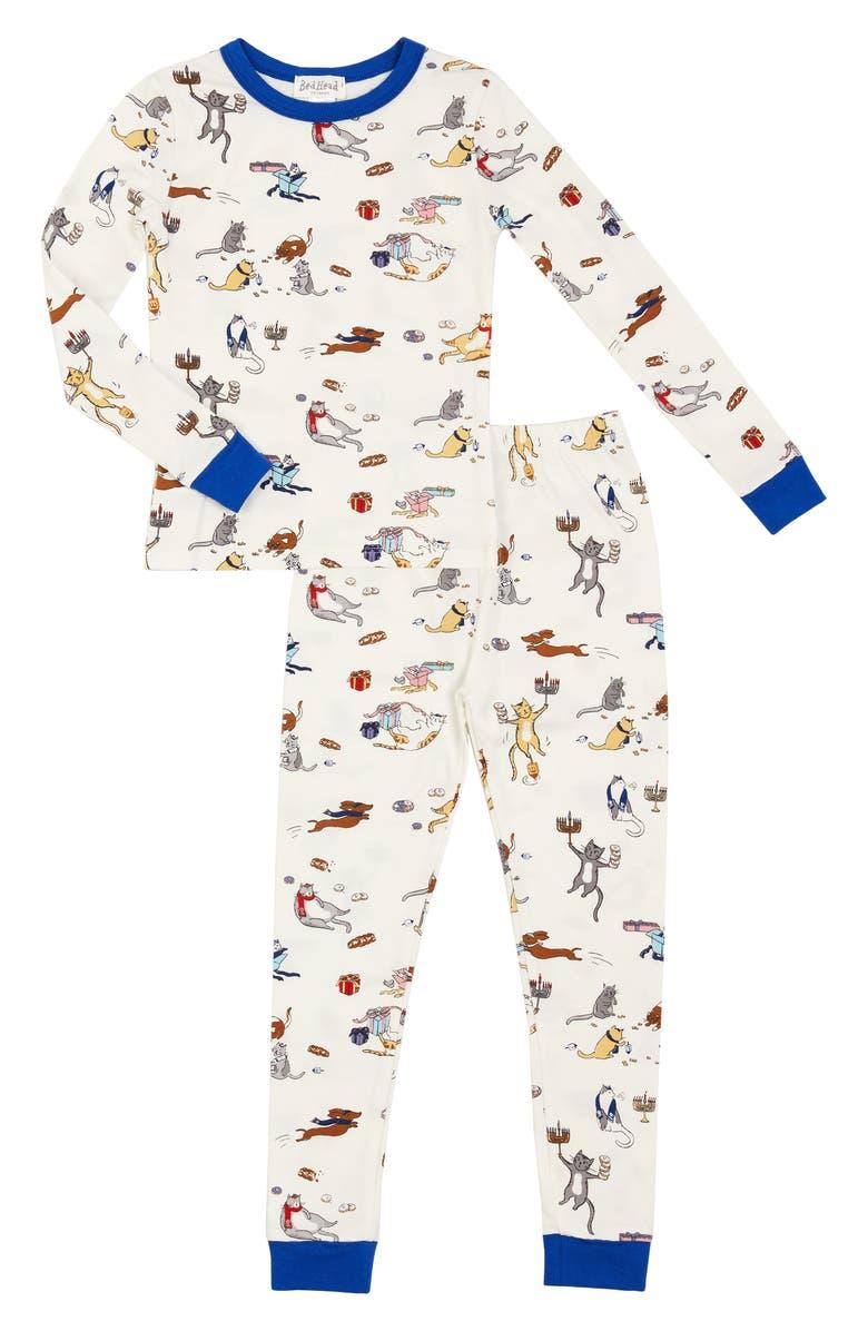 BEDHEAD PAJAMAS Cat Print Pajamas, Main, color, MEOWZEL TOV