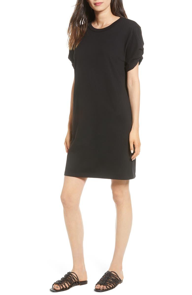 REBECCA MINKOFF Ally Cotton Shift Dress, Main, color, 001