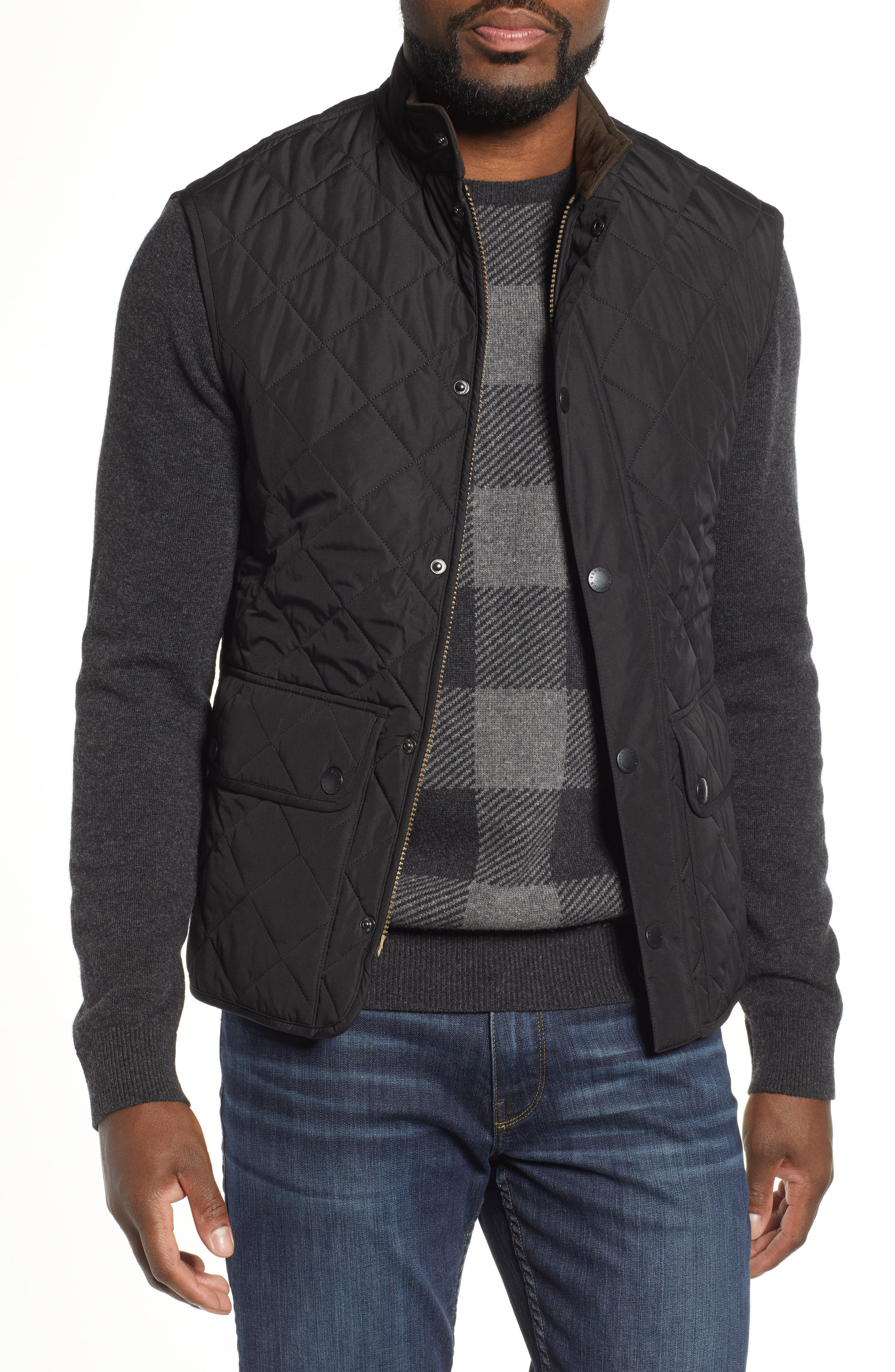 Barbour Lowerdale Quilted Vest, Black