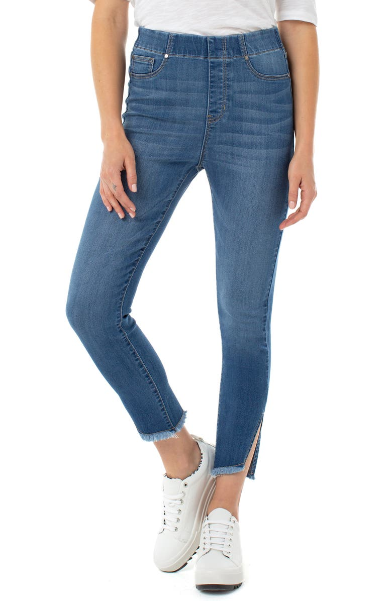 LIVERPOOL Chloe High Waist Side Slit Pull-On Skinny Jeans, Main, color, STILLWELL