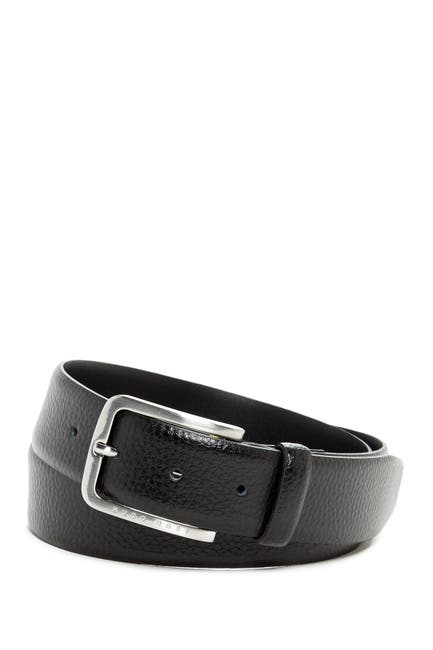 Image of BOSS Pebbled Leather Belt