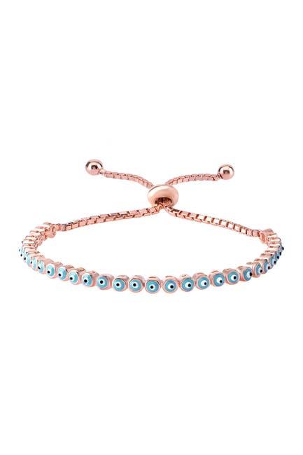 Image of Gab+Cos Designs 22K Rose Gold Vermeil Evil Eye Beaded Bracelet