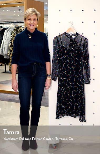 Elisa Tie Neck Long Sleeve Silk Chiffon Dress, sales video thumbnail