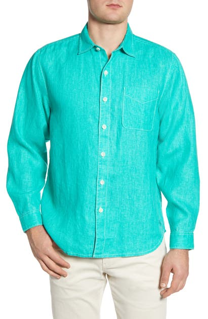 Tommy Bahama T-shirts 'SEA GLASS BREEZER' ORIGINAL FIT LINEN SHIRT