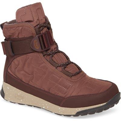 Chaco Borealis Quilt Waterproof Sneaker Boot, Burgundy
