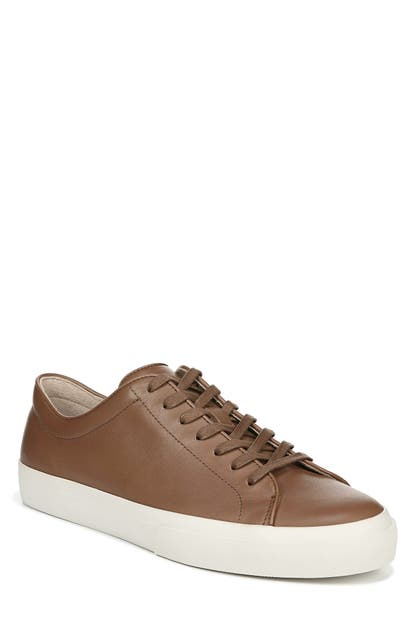 Vince Men's Farrell Smooth Leather Low-top Sneakers In Luggage