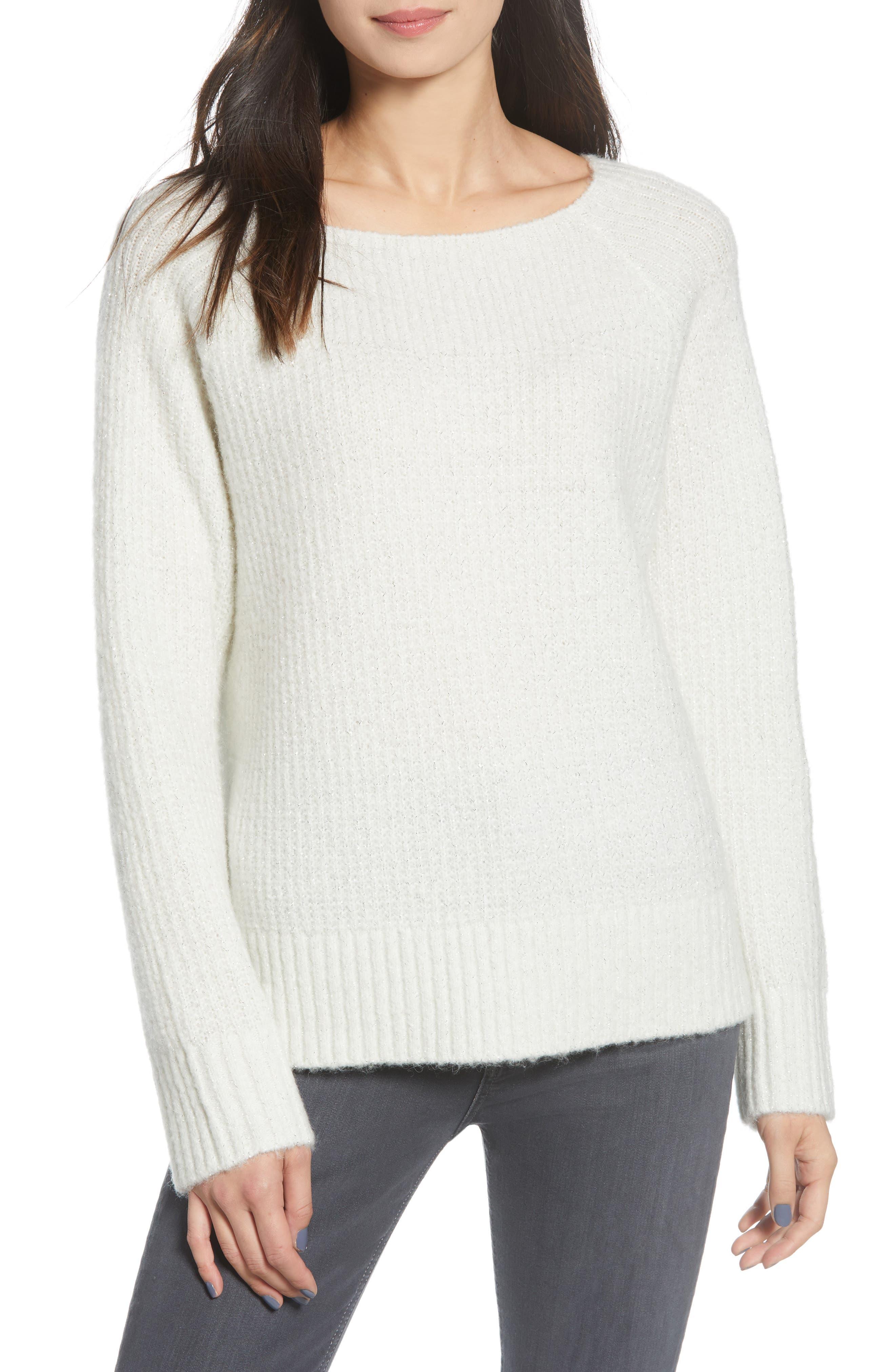 Image of Chelsea28 Rib Metallic Sweater
