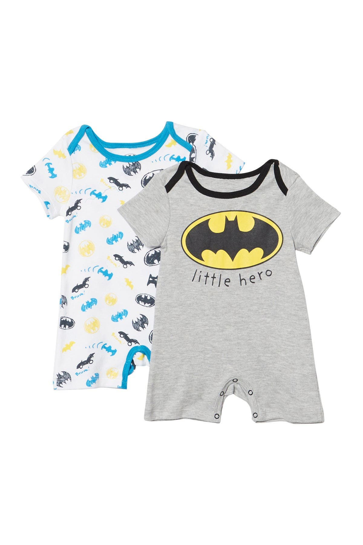 Image of HAPPY THREADS Batman Romper - Pack of 2